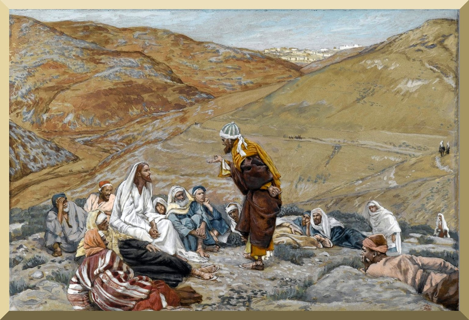 """The Scribe Stood to Tempt Jesus"" -- by James Tissot.jpg"