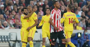 تصدر ليفربول الدوري الإنجليزي الممتاز بعد تعادل مثير مع برينتفورد في ليلة محمد صلاح التاريخية