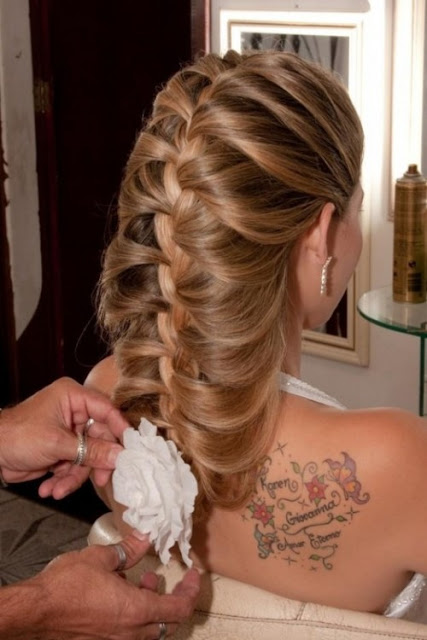 Long Braided Hairstyle for Brides