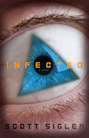 "Portada del libro ""Infected"", de Scott Sigler"