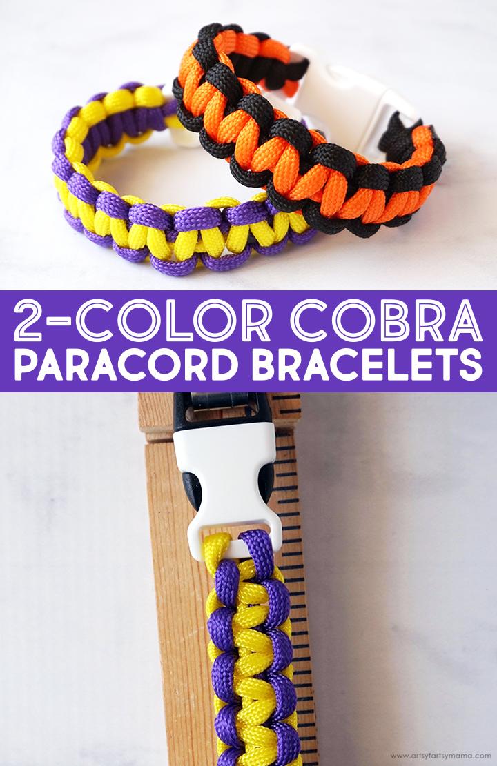 DIY 2-Color Cobra Paracord Bracelet Tutorial