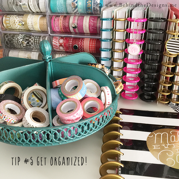 Tip 5: Get Your Planner Supplies Organized | Behind the Designs DIY Craft and Planning Blog