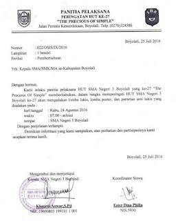 contoh surat resmi pemberitahuan