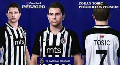 PES 2020 Faces Zoran Tošić