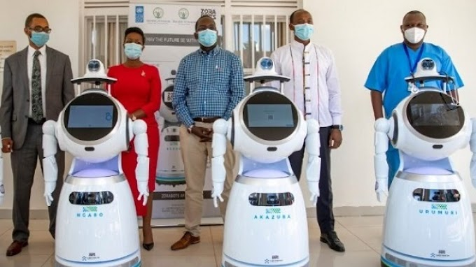 Rwanda takes delivery of robots that can screen '150 people per minute' for Coronavirus