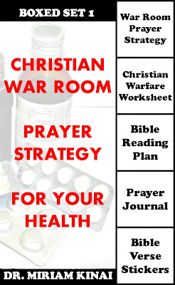 Boxed Set 1 Christian War Room Prayer Strategy for your Health