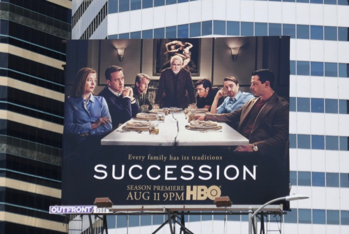 Succession season 2 HBO billboard