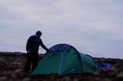 tent up on the lower slopes of Carn Mountain - growourown.blogspot.com
