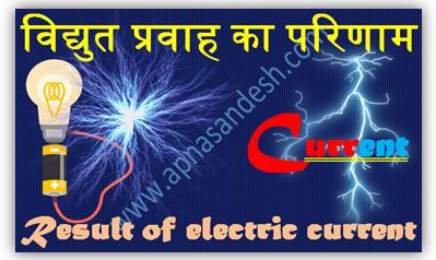 विद्युत प्रवाह का परिणाम - Result of electric current
