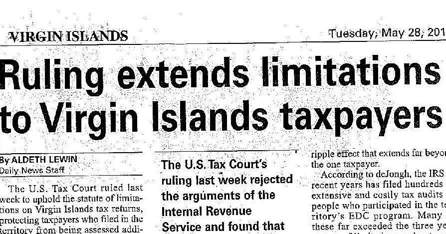 Sidebar - the official blog of www.Carib-Law.com: U.S. Tax ...