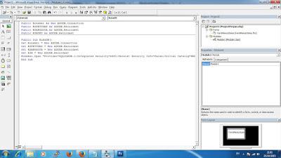 Membuat Form Login Aplikasi Perpus VB 6.0