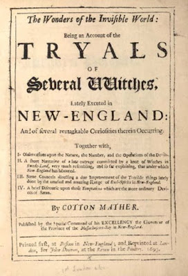 Climbing My Family Tree: The Wonders of the Invisible World by Cotton Mather, 1693