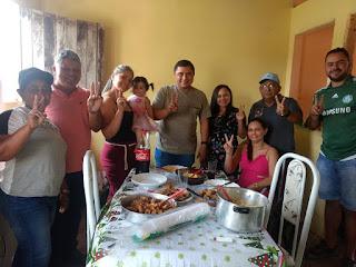 Em Cacimba de Dentro o pre-candidato a vereador Tiago da EMATER, fecha mais uma semana recebendo novos apoios.