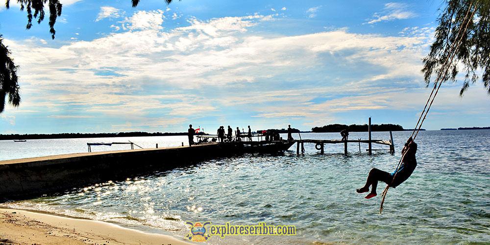pulau perak, pulau yang nyaman untuk rehat dan santai