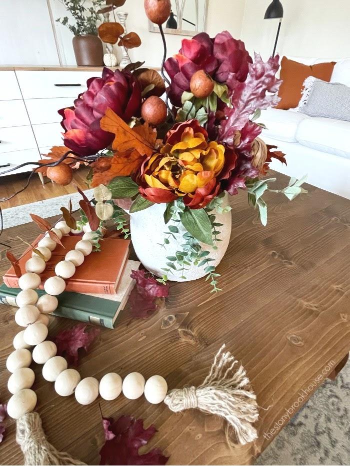 Fall coffee table arrangement