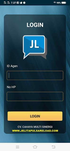 Cara Login Aplikasi JL Mobile Topup