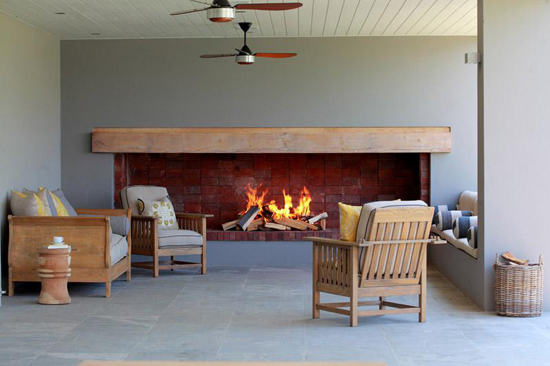 fire place, holiday, betty bake, grey, gray, chairs, open plan, flow,