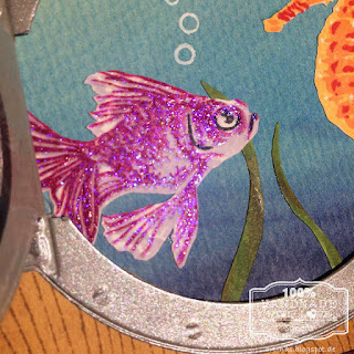 Hero Arts Color Layer Goldfish und WOW Embossingpowder clear hologram sparkle