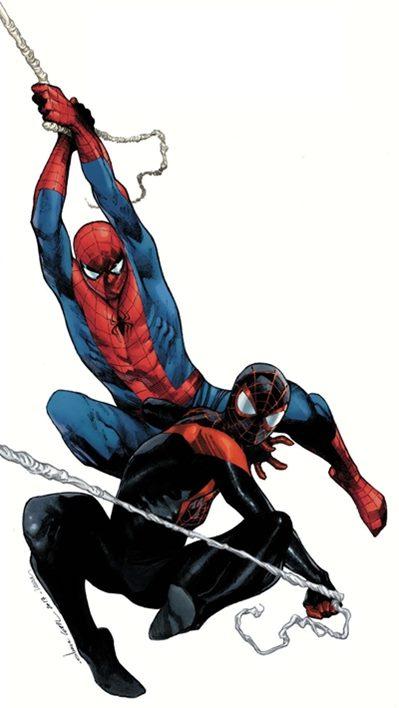 Los dos Spidermans juntos
