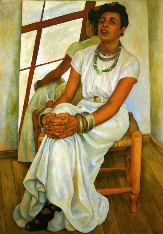 Retrato de Lupe Martin - Diego Rivera e suas principais pinturas ~ Muralismo mexicano