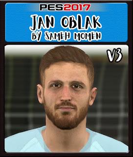 PES 2017 Faces Jan Oblak by Sameh Momen