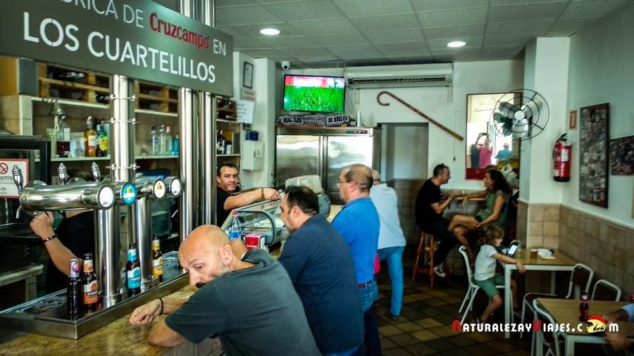 Interior de los cuartelillos, Huelva