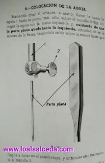 Colocacion aguja en máquina de coser alfa 40