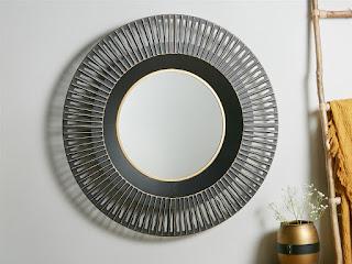 Espejo de forja diseño redondo actual