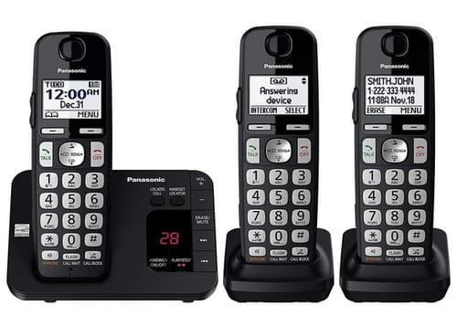 Panasonic KX-TGE433B DECT 6.0 Cordless Phone System