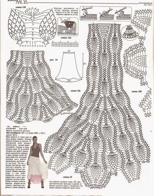 Patrón para tejer falda