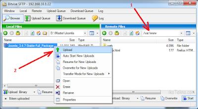 instalasi joomla di linux debian server