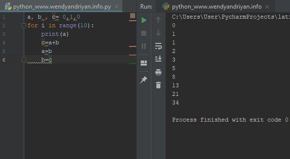 Cara Membuat Deret Fibonacci Di Python