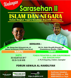 Sarasehan nahdliyyin Bandung Barat