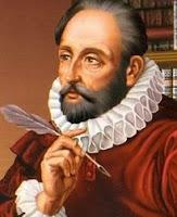 Dibujo de Miguel de Cervantes Saavedra a color