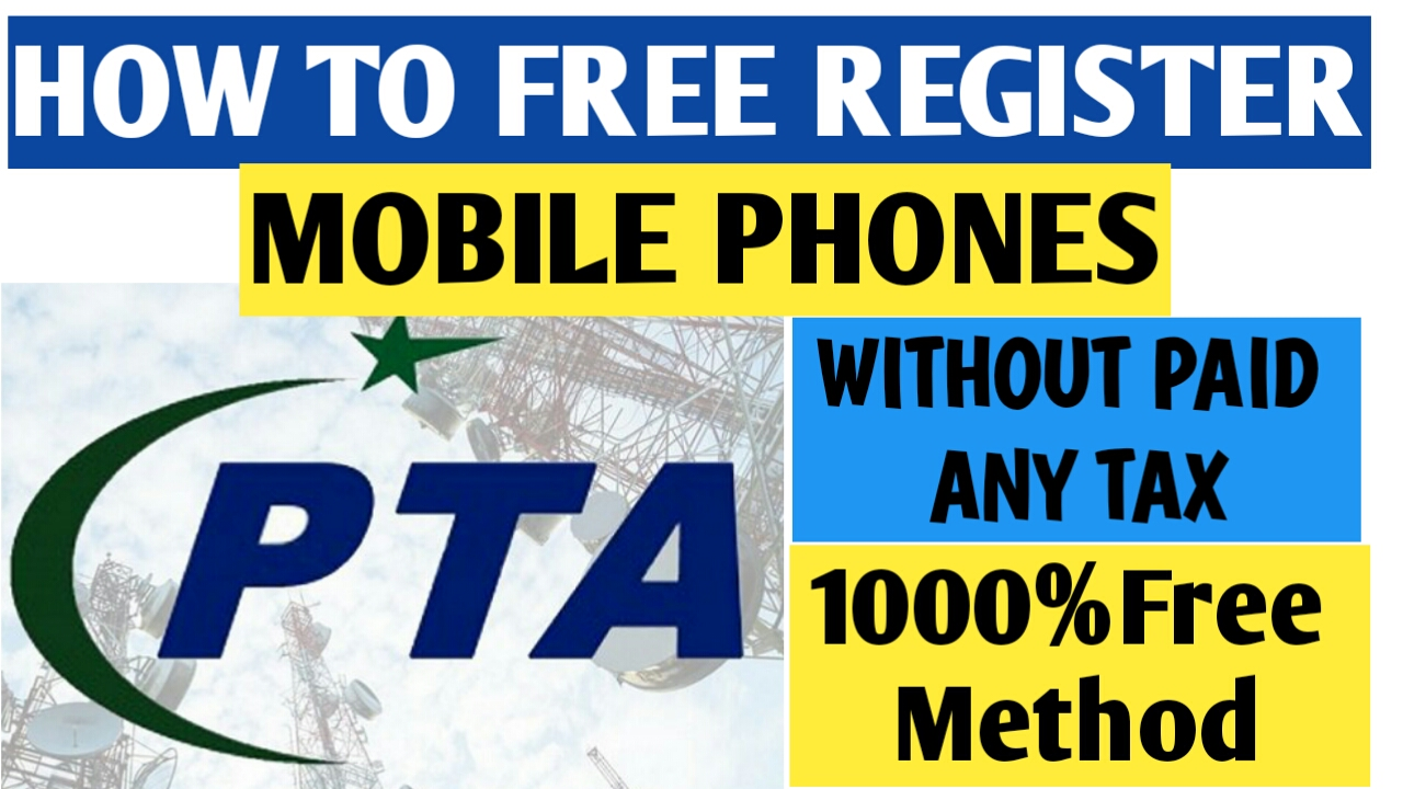 How To free Register Your Mobile without Paid Any tax By