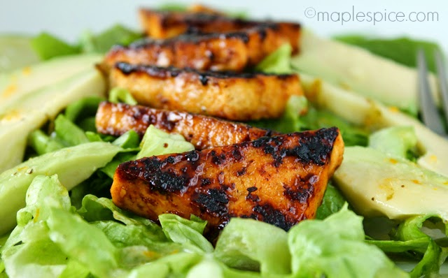 Lightly Charred Zesty Lime Margarita Tofu - vegan and gluten free