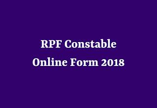RPF Constable Online Form