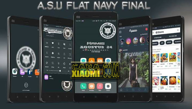 Theme MIUI A.S.U Flat Navy Final Mtz For Xiaomi Terbaru