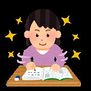 勉強が好調な人のイラスト(女性)