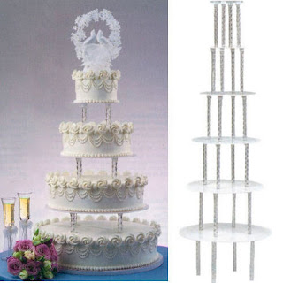 Tall towering tiers wedding cupcake stand