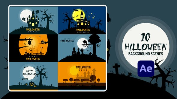 Halloween Background[Videohive][After Effects][28922021]