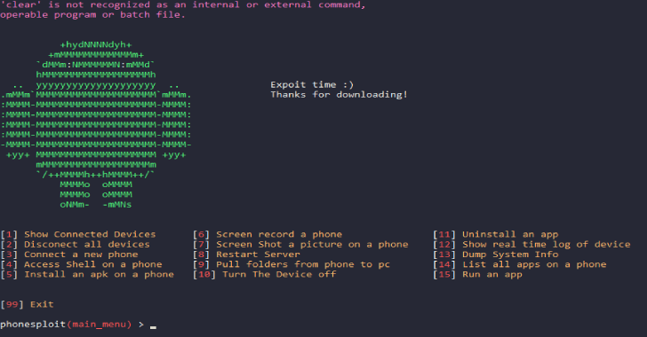 PhoneSploit : Using Open ADB Ports We Can Exploit A Android Device