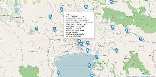 ดึง Open Data รายงานสภาวะอากาศมารายงานบนแผนที่ด้วยภาษาไพทอน