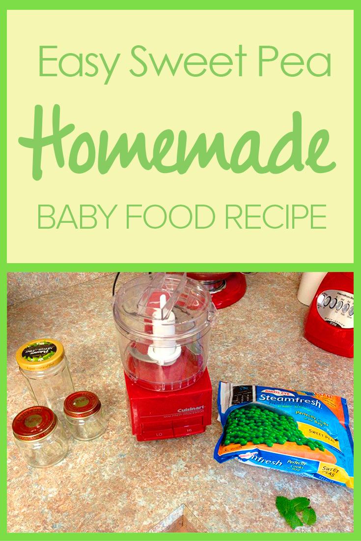 Sweet Pea Puree Baby Food Recipe