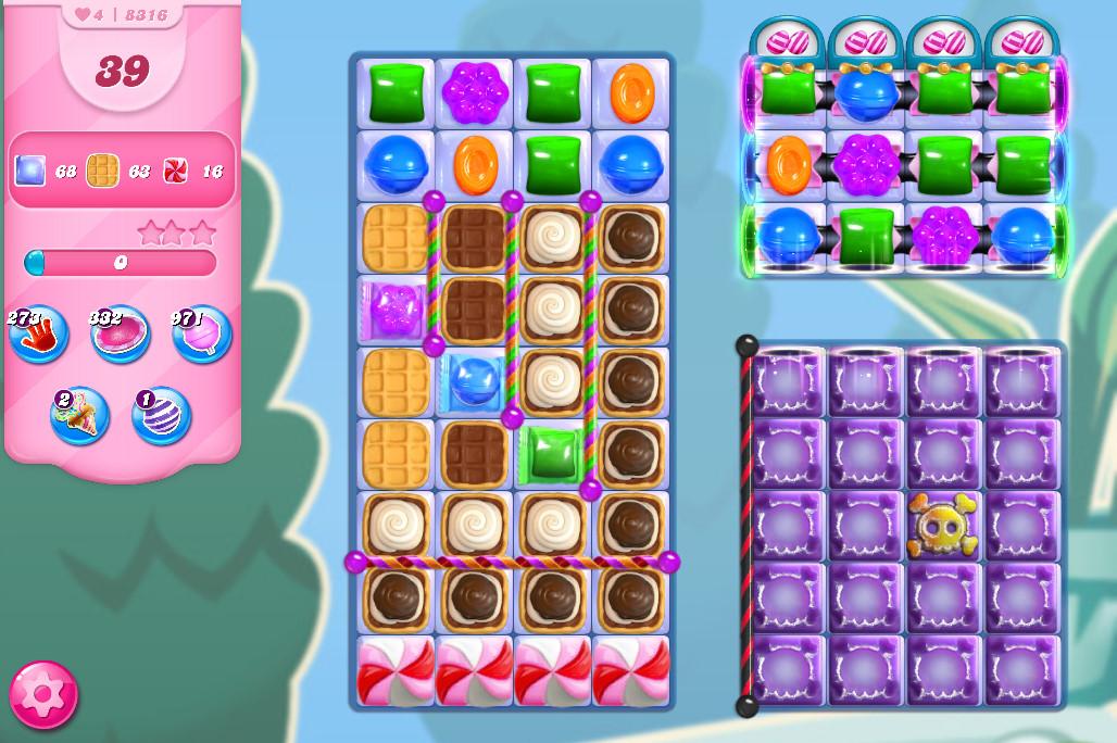Candy Crush Saga level 8316