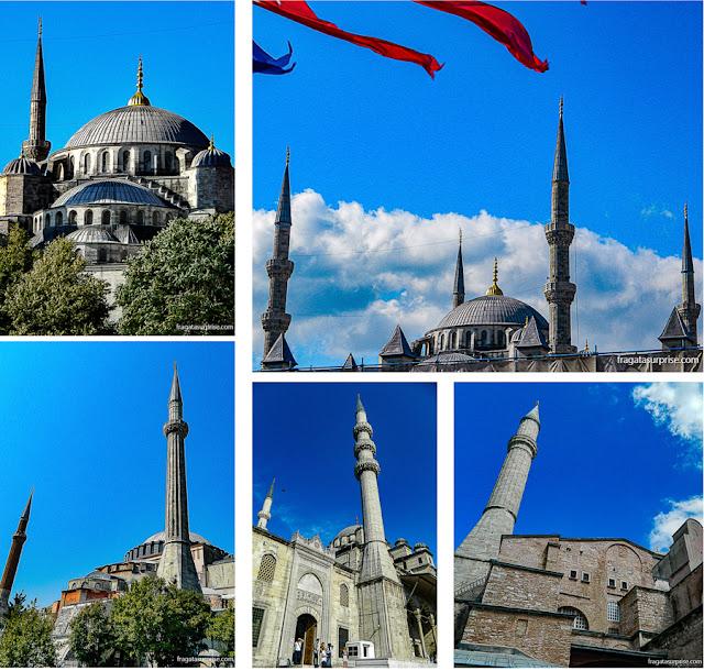 Minaretes no skyline de Istambul
