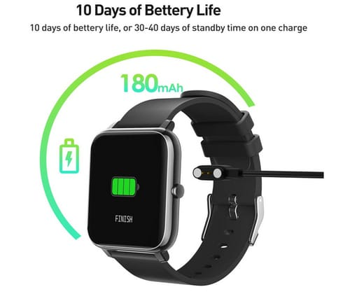YAGALA Smart Watch with Heart Rate Monitor