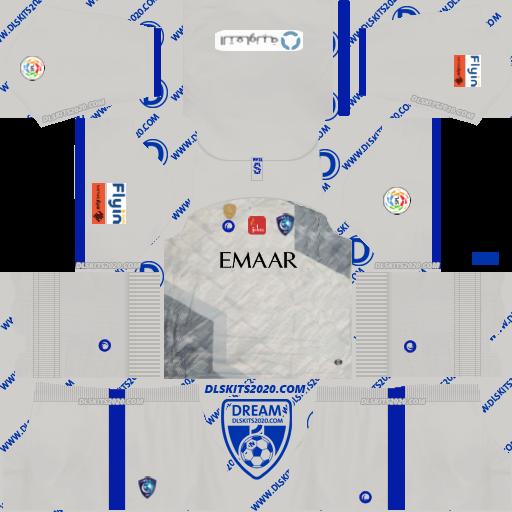 Al hilal Fc kits 2019-2020 (Saudi Arabia) Nike in Kit Dream League Soccer 2019 (Away)