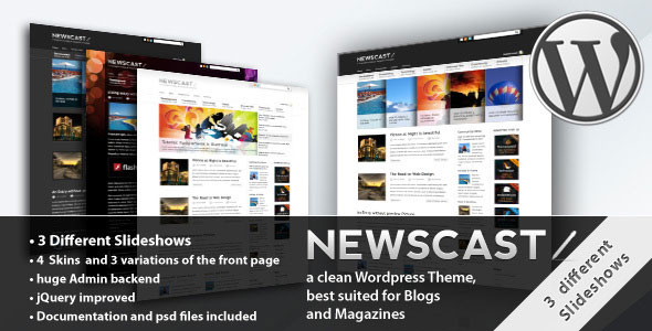 Free Download Newscast 4 in 1 V2.1 Wordpress Magazine and Blog Theme