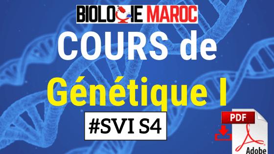 COURS de Génétique I SVI S4 PDF